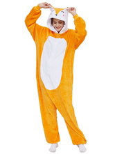 Кигуруми Пижамы Onesie Fox Взрослый Оранжевый Легкий Туалет Костюмы Кигуруми
