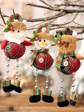 Carnevale Decorazioni per costumi natalizi per applique per bambole con perline in plaid Halloween