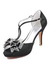 Scarpe da sera da donna Sandali tacco alto Peep Toe Scarpe da festa con fiocchi
