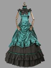 Vitoriano Retro trajes mulheres plissado arco traje do século XVIII