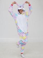 Disfraz Carnaval Disfraces kigurumi Onesie pijama de franela Startlet conejito Mono Kigurumi Carnaval Halloween