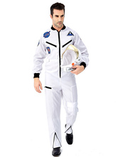 Carnival Astronaut Costumes Men's Halloween Sexy Costume Jumpsuit Hat Two Pieces Costumes