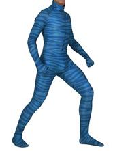 Аватар Супергерой Костюмы Синий Зентаи Лайкра Спандекс Полосатый Комбинезон