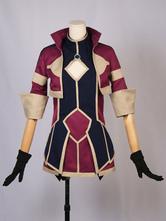 Re:CREATORS pour femme de polyuréthane / Synthétique en tissu uniforme Animé japonaise Guêtre bordeaux  Déguisements Halloween