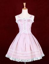 Lolitashow Pink Sleeveless Lolita Dress