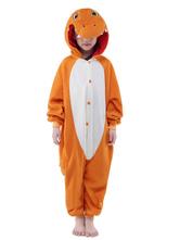 Оранжевый динозавров синтетических комбинезон талисман костюм  Хэллоуин