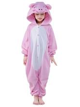 Kigurumi Пижама Пятачок Onesie Для Детей Розовый Синтетический Зимний Пижамы Костюм Талисмана Животных Хэллоуин