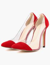 Женские туфли на высоком каблуке Замша с накладными пальцами на ногах