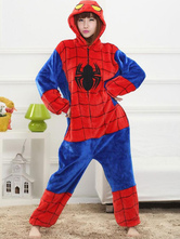 Kigurumi pijamas super-herói Homem-Aranha Onesie Womens flanela traje Cosplay