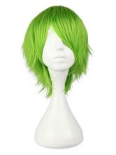 Vocaloid Hatsune Miku Wig Wavy Bouncy Light Green Short Cosplay Wig