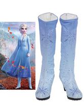 Frozen 2 Elsa Footwear Sequined Cosplay Shoes