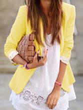 Women Blazer Jacket Pink Casual Jacket Long Sleeve Spring Coat