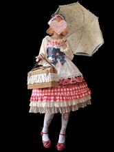 Lolita doce JSK vestido infanta fruta padrão Lolita Jumper saias