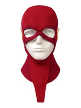 Fasching Flash Cosplay Das Flash Barry Allen Ture DC Comics Cosplay Kostüm aus roter Baumwolle