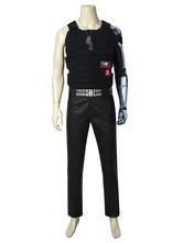 Carnevale Cyberpunk 2077 Costumi Cosplay Nero Adulti Pantaloni da gioco Collana Set Costumi da gioco Cosplay