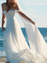 Brautkleid eine Linie von der Schulter Liebsten Hals ärmellose bodenlangen mit Zug Brautkleider