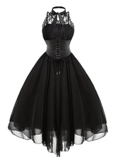 Gothic Lolita JSK Dress Lace Chiffon Ruffles Lolita Jumper Skirts