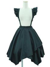 Sweet Lolita SK Black Cascading Ruffles Lolita Skirts