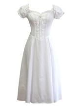 Classic Lolita OP Dress Puff Sleeve Lace Up Ruffles Lolita One Piece Dresses