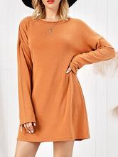 Вечерние платья Очаровательное оранжевое платье-шею с капюшоном из нейлона