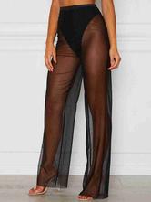 Pantalones Pantalones de tul negros