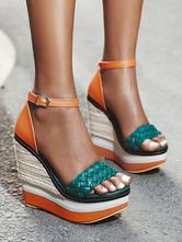 Espadrilles Women Wedge Heel Sandals Platform Open Toe Heels Shoes