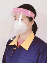 Careta protectora Lente transparente de seguridad Gota en el aire Precaución Cuarentena con visera abatible