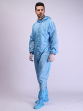 Disposable Full Body Protective Coveralls One Piece Non-Woven Fabrics Protective Hooded Isolation Suit With Zip Front Opening