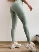 Calças de yoga de cintura alta esticam calças de treino de controle de barriga