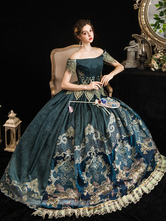 Retro barroco trajes vestido Marie Antoinette traje festa vestido de baile