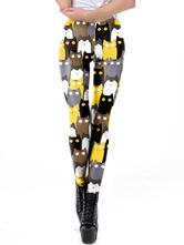 Leggings elásticos Gatos Leggings de mujer con estampado 3D