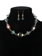 Jewelry Sets Blue Green Crystal Pierced 2-Piece Jelly Jewelry Set