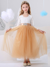 Платья для девочек-цветочниц с длинным рукавом и длинными рукавами