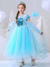 Flower Girl Dresses Jewel Neck maniche corte Paillettes bambini abiti da festa sociale