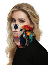 Маска для лица Ветрозащитный шарф Солнцезащитный крем Сахарный череп Дышащий бандана