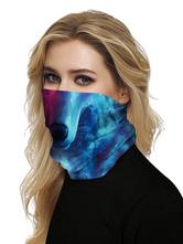 Маска для лица ветрозащитный шарф солнцезащитный крем волк принт дышащая бандана