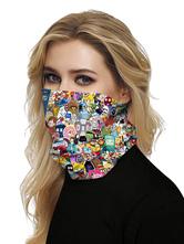 Face Cover Mouth Cover Bandanas Seamless Anime Print Tube Headwear