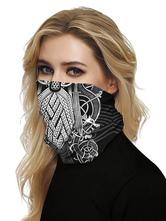 Masque transparent visage Bouche Couverture Bandanas Masque Couverture Black Sun Dust Bandanas