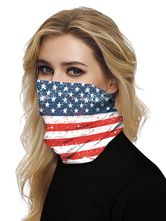 Face Scarf Cover Veil 4th Of July Bandanas For Fishing Motorcycling Running