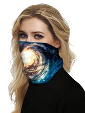 Visage Couverture Écharpe Masque soleil poussière Univers Imprimer Bandanas pour la pêche course Motocyclisme