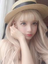 Doux Lolita perruques longue fibre résistante à la chaleur Blonde Lolita cheveux perruques Déguisements Halloween