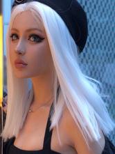 Parrucche lunghe Lolita Parrucche bianche per capelli in fibra resistente al calore