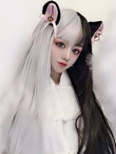 Lolita Wig Black And White Long Heat Resistant Fiber Lolita Hair Wigs
