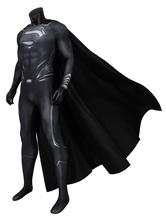 Fasching Superman Schwarzer Anzug Justice League Wiederherstellungsanzug Clark Kent DC Comic Cosplay Kostüm
