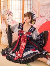 Chinese Style Lolita OP Dress Bows Wa Lolita One Piece Dresses