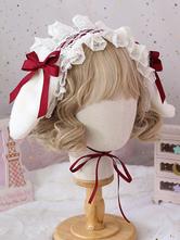 Orelhas Sweet Lolita mantilha Coelho Lace Bows Lace Headband