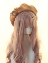 Chapéu Lolita Doce Decoração Urso Lolita Boina Chapéus Chapéus
