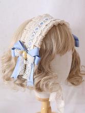 Süßer Lolita Kopfschmuck Baby Blue Lace Bow Lolita Stirnband