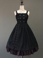 Gothic Lolita JSK Kleid schnüren sich oben Knopf Lolita Brücker-Rock