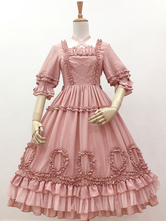 Sweet Lolita OP-Kleid Kreuz vorne Halbarm Lolita One Piece Kleider